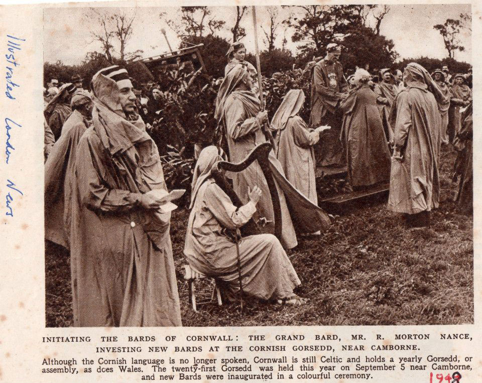 Newsclipping of the 1948 Gorsedd at Giant's Quoit